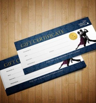 Everett, WA Area New Student Dance Gift Certificates